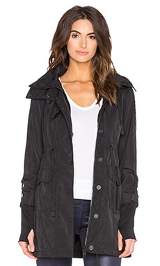 BLANC NOIR Hooded Anorak Jacket in Black