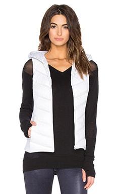 BLANC NOIR Packable Moto Vest in Ash Heather & White