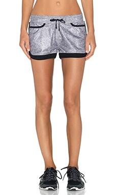 BLANC NOIR Jogging Short in Medium Grey & Black