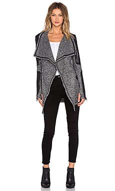 BLANC NOIR Drape Sweater Coat in Charcoal Heather