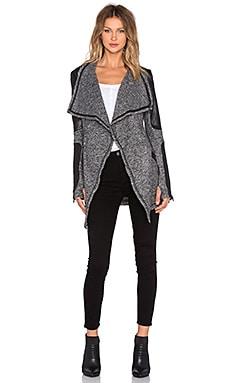 BLANC NOIR Drape Sweater Coat in Charcoal Heather