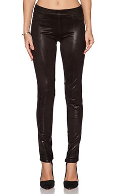 BLANC NOIR London Street Pant in Black Cracked Leather