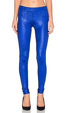 BLANC NOIR London Street Pant in Embossed Croc Sapphire
