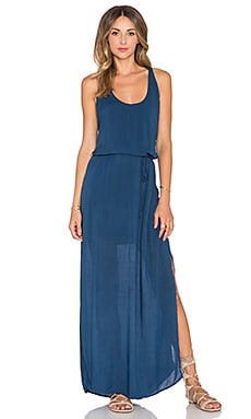 Bella Dahl Racerback Maxi Dress in Blue Heron
