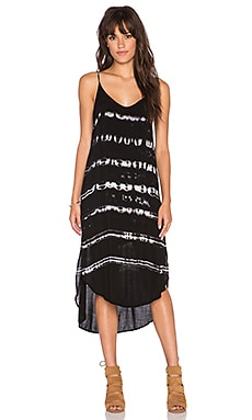 Bella Dahl Tie Back Dress in Black
