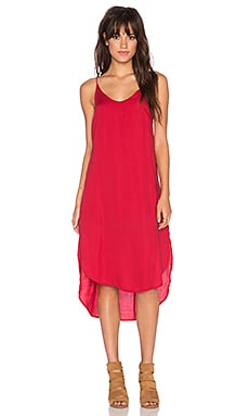 Bella Dahl Tie Back Dress in Exotic Red