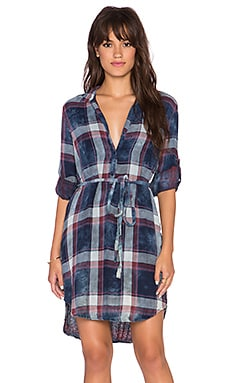 Bella Dahl Placket Shirt Dress in Cloud Wash