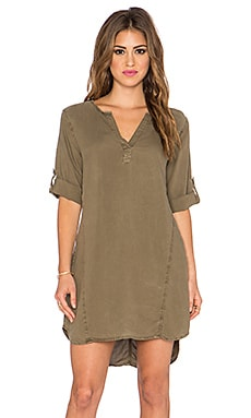 Bella Dahl Seams Dress in Burnt Olive