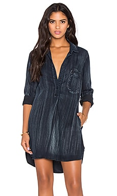 Bella Dahl Studio Shirt Dress in Painted Blackdigo Wash