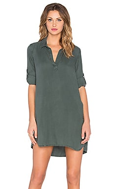 Bella Dahl A-Line Shirt Dress in Frosted Pine