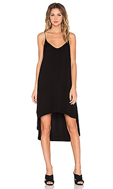 Bella Dahl Hi-Lo Midi Dress in Black