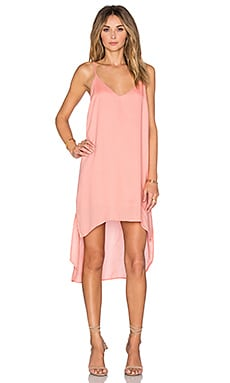 Bella Dahl High Low Hem Dress in Papaya