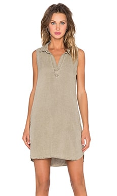 Bella Dahl Sleeveless A-Line Dress in Rustic Olive
