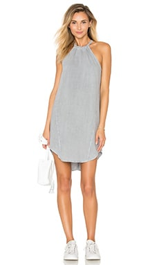 Seams Halter Dress in Stone Grey