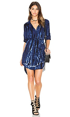 Tie Dye Placket Shirt Dress