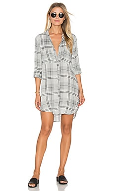 Whitehaven Flannel Plaid Hipster Dress en Gris Chiné