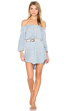 Off Shoulder Button Front Dress