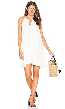 Handkerchief Halter Dress in Sea Salt