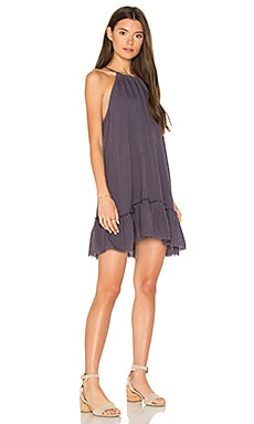 Fray Ruffle Halter Dress