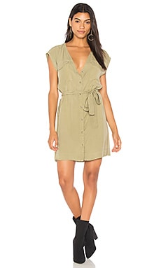 Soft Utility Button Up Dress