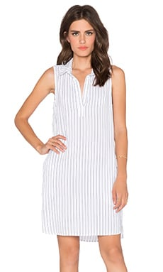 Bella Dahl Sleeveless A-Line Dress in White