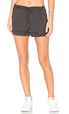 Eyelet Short in Night Shade