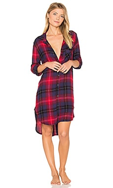 Mercer Plaid Sleep Shirt in Jewel Tone