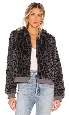 Reversible Faux Fur Bomber Jacket Bella Dahl $121