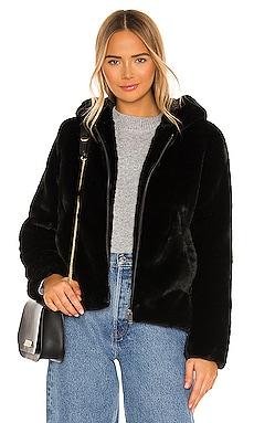 Faux Fur Zip Up Hoodie Bella Dahl $242 NEW