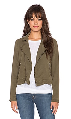 Bella Dahl Moto Jacket in Amazon Moss