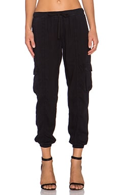 Bella Dahl Cargo Jogger Pant in Black