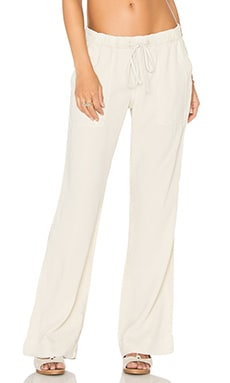 Easy Pocket Wide Leg Pant en Thé