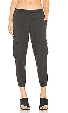 Bella Dahl Flap Cargo Jogger in Night Shade