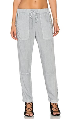 Exposed Zipper Pant en Harbor Mist