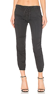 Lace Up Jogger in Smoke Pearl