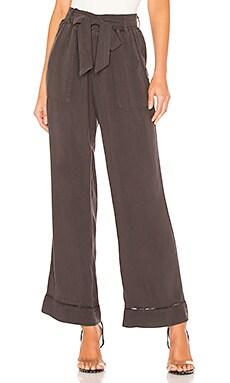 Trimmed Belted Wide Leg Pant Bella Dahl $43 (FINAL SALE)