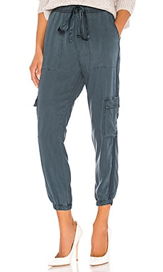 Satin Trimmed Cargo Pants Bella Dahl $194