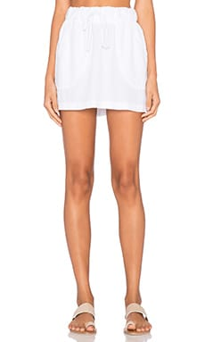 Bella Dahl Welt Pocket Skirt in White