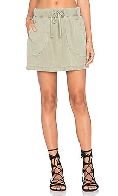 Bella Dahl Welt Pocket Skirt in Spring Moss
