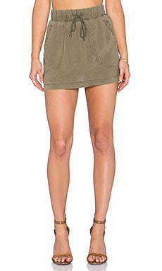 Bella Dahl Welt Pocket Skirt in Burnt Olive