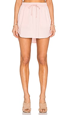 Bella Dahl Easy Drawcord Skirt in Pink Sand