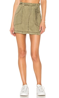 Bella Dahl Patch Pocket Skirt in Oakmoss
