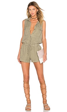 Utility Romper en Jungle Moss
