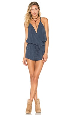 Bella Dahl Drape Front Romper in Deep Royal