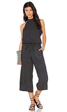 Mock Neck Jumpsuit in Smoke Pearl