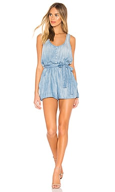 Stripe Trim Racer Back Romper Bella Dahl $127