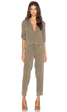 Bella Dahl Utility Jumpsuit in Burnt Olive