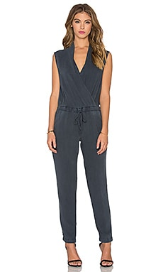 Bella Dahl Cross Front Jumpsuit in Obsidian