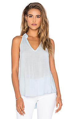 Bella Dahl Split Back Halter Top in Ocean Mist