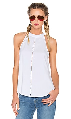 Bella Dahl Eyelet Halter in White
